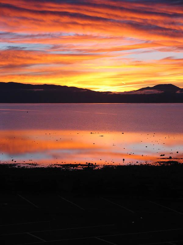 Sunrise Art Print featuring the photograph Northshore Sunrise Tahoe by Tony and Kristi Middleton