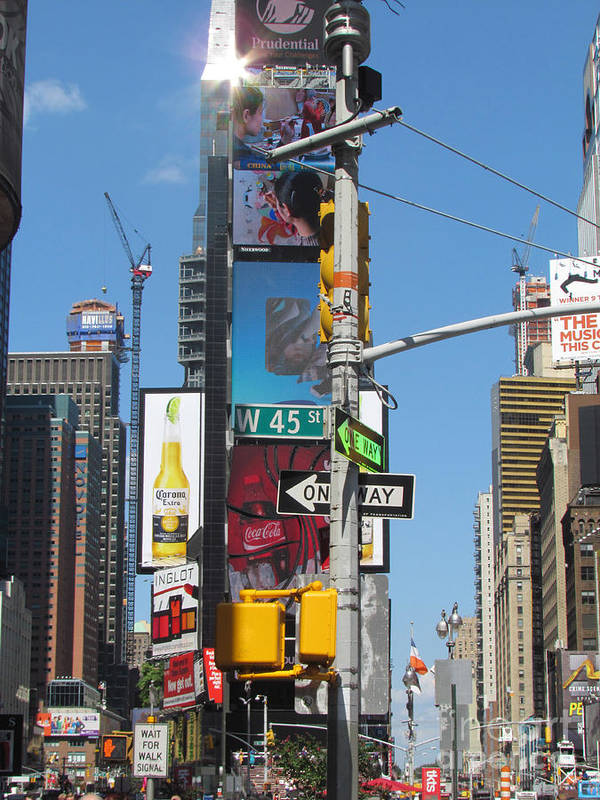 Times Square Art Print featuring the photograph Nyc Directions by Randi Shenkman