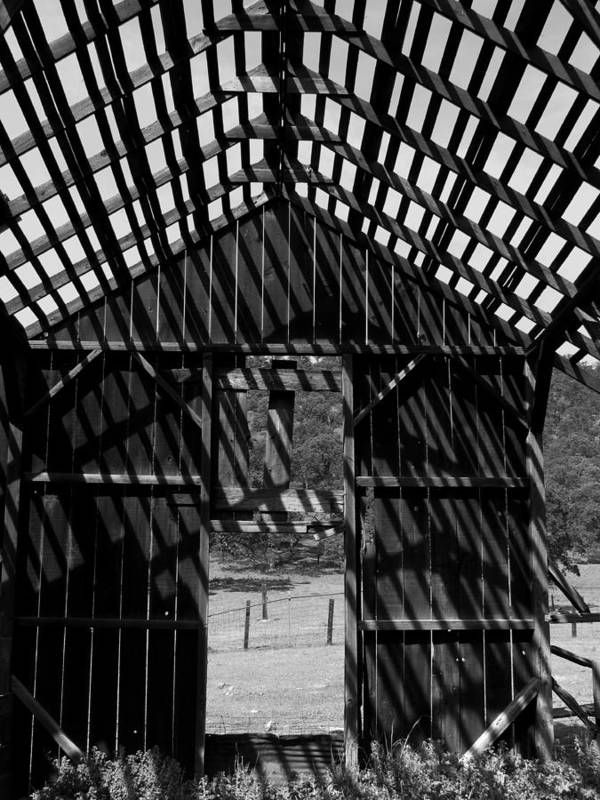Barn Art Print featuring the photograph Open Air Barn by Tony and Kristi Middleton