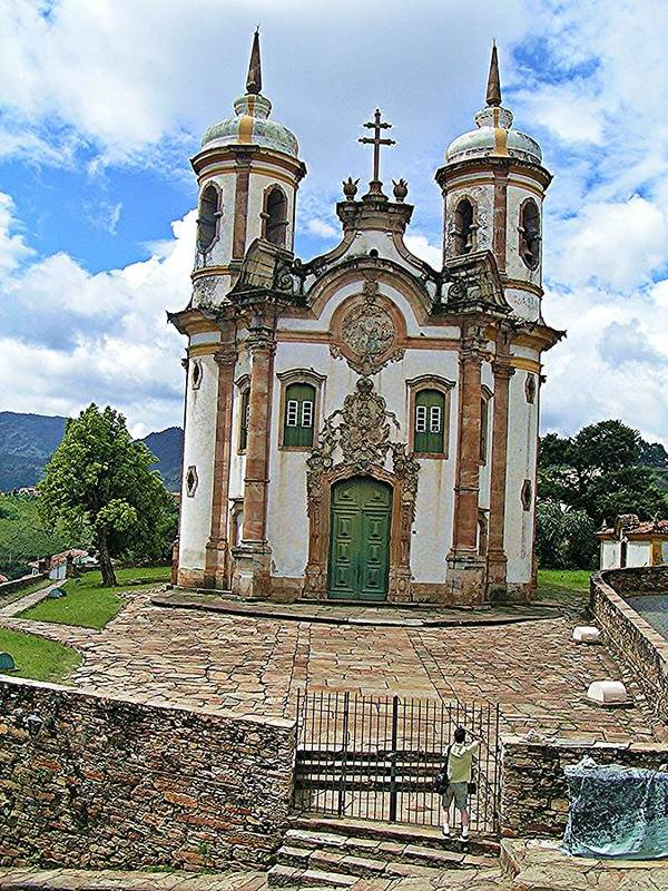 Ouro Preto Art Print featuring the photograph Ouro Preto Church by David Rich