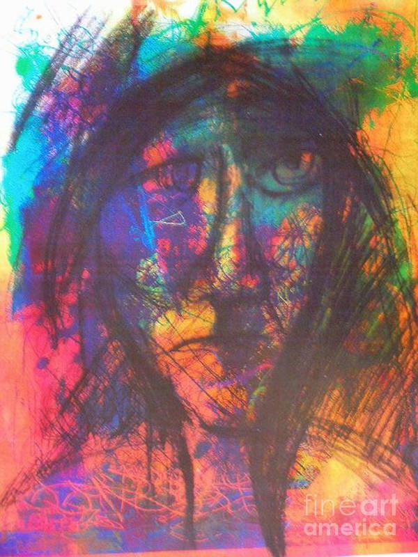 Art Print featuring the mixed media Pastel Man 18 by Bill Davis