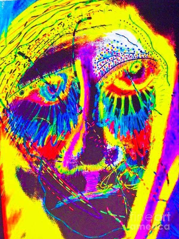 Art Print featuring the mixed media Pastel Man 19 by Bill Davis