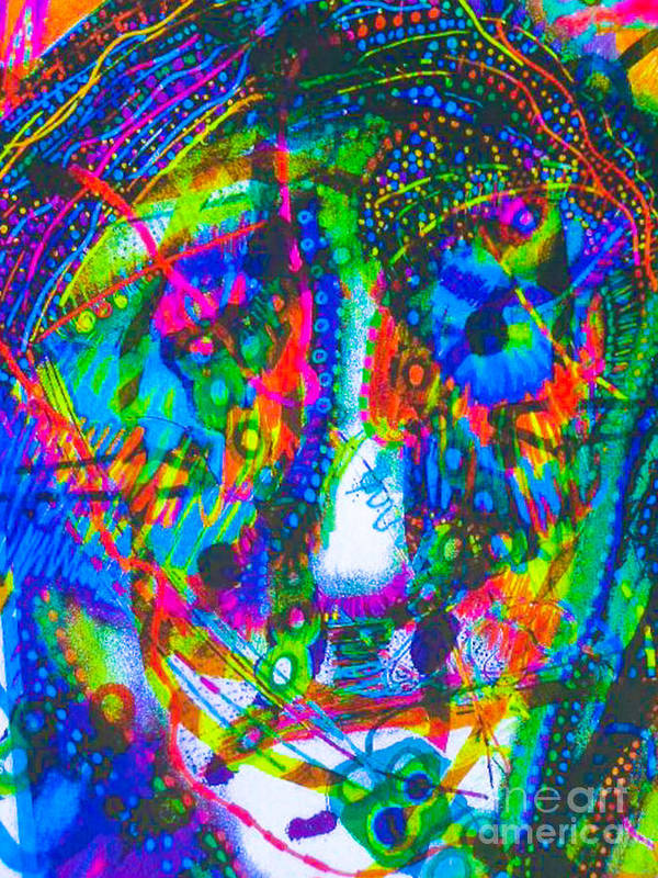 New Image Paintings Art Print featuring the mixed media Pastel Man 21 by Bill Davis