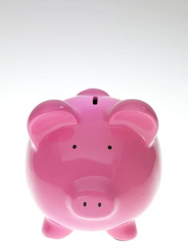Piggy Bank Art Print featuring the photograph Piggy Bank by Tek Image