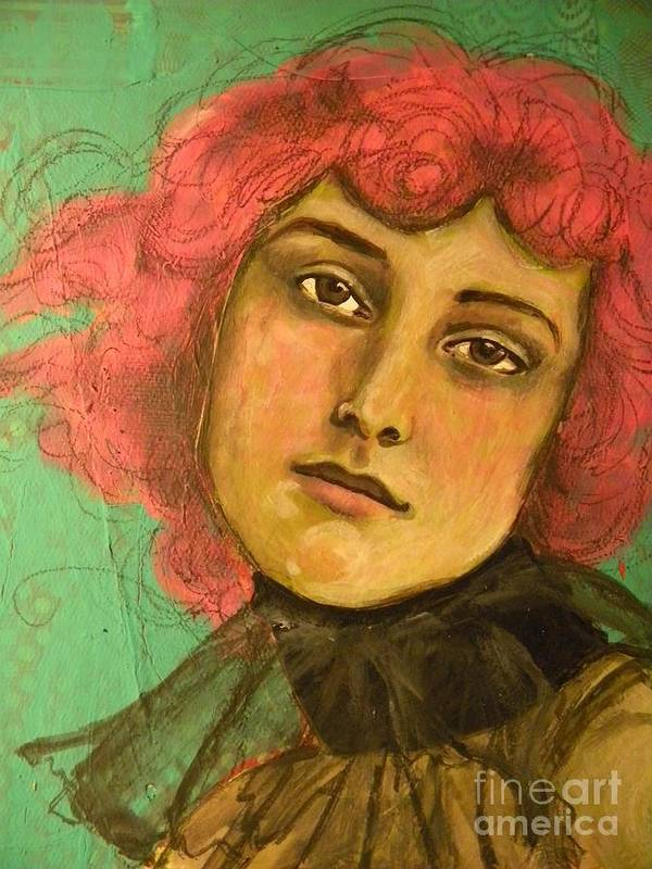 Art Print featuring the mixed media Pink by Terra Sheridan