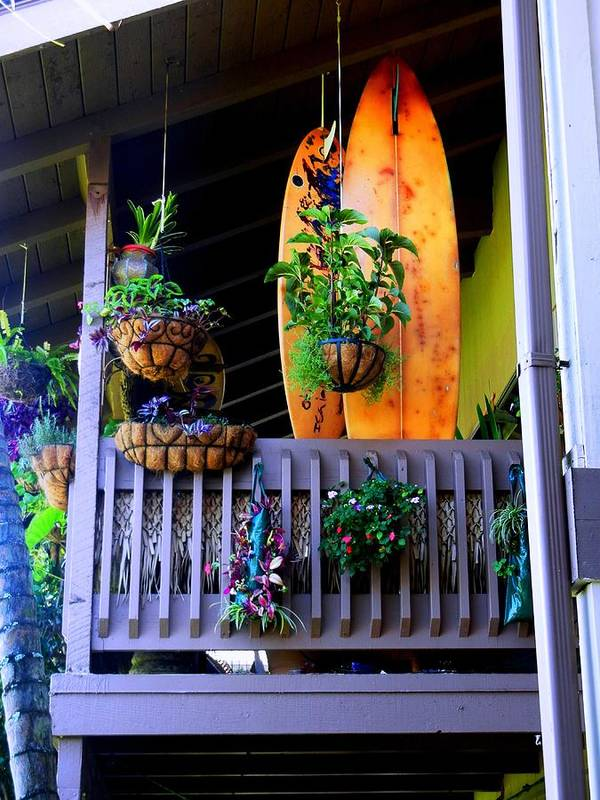 Surf Boards Art Print featuring the photograph Porch Surf by Sharon Farris