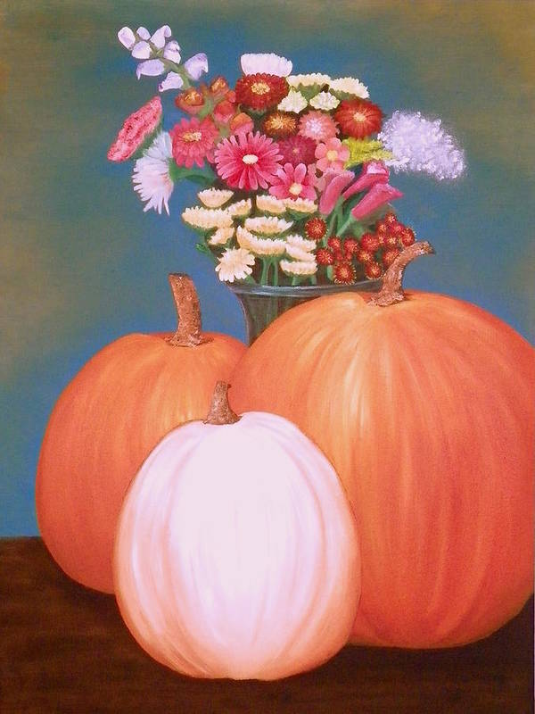 Pumpkin Art Print featuring the painting Pumpkin by Amity Traylor