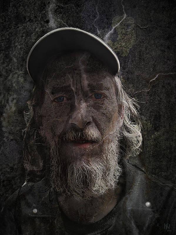 Portrait Art Print featuring the digital art Rocker-uwe by Nafets Nuarb