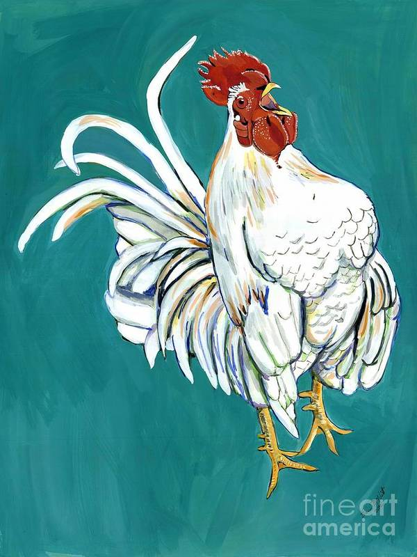 Rooster Art Print featuring the painting Rooster Call by Erin McNutt