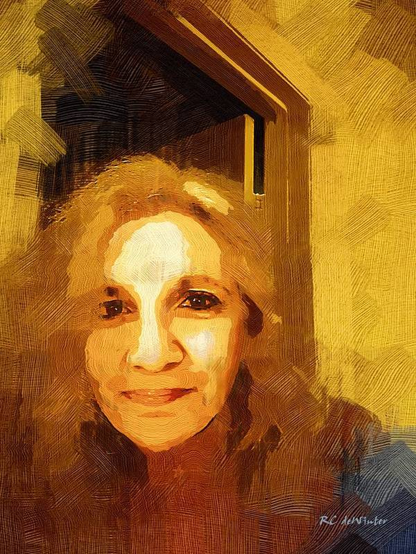 Contemporary Art Print featuring the painting She Smiles Sweetly by RC DeWinter