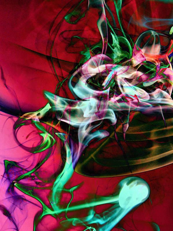 Smoke Art Art Print featuring the photograph Smoke Dementia Number One Edit E by Nawfal Nur
