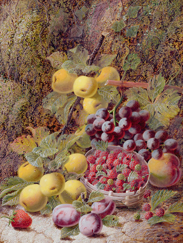 Still Life With Fruit Art Print featuring the painting Still Life With Fruit by Oliver Clare
