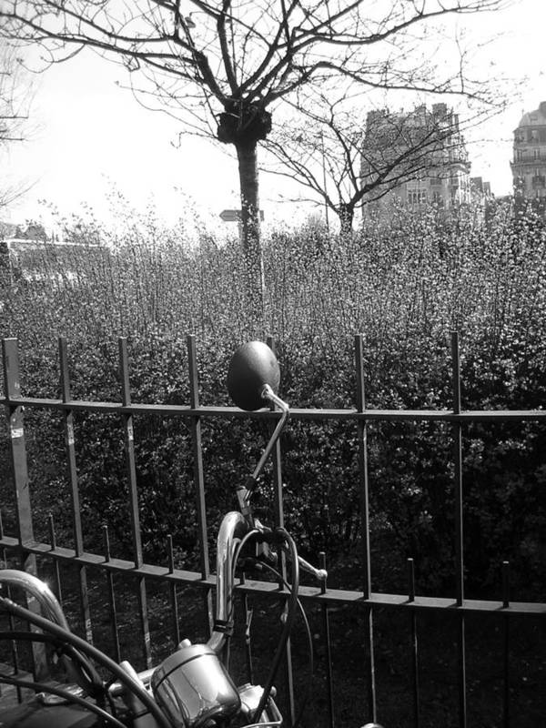 Street Art Print featuring the photograph Street Photography In Paris In Black And White by Jennifer Holcombe