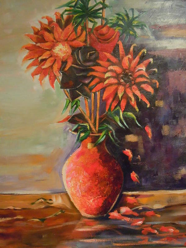Summer Time Art Print featuring the painting Summer Time by Michael Echekoba