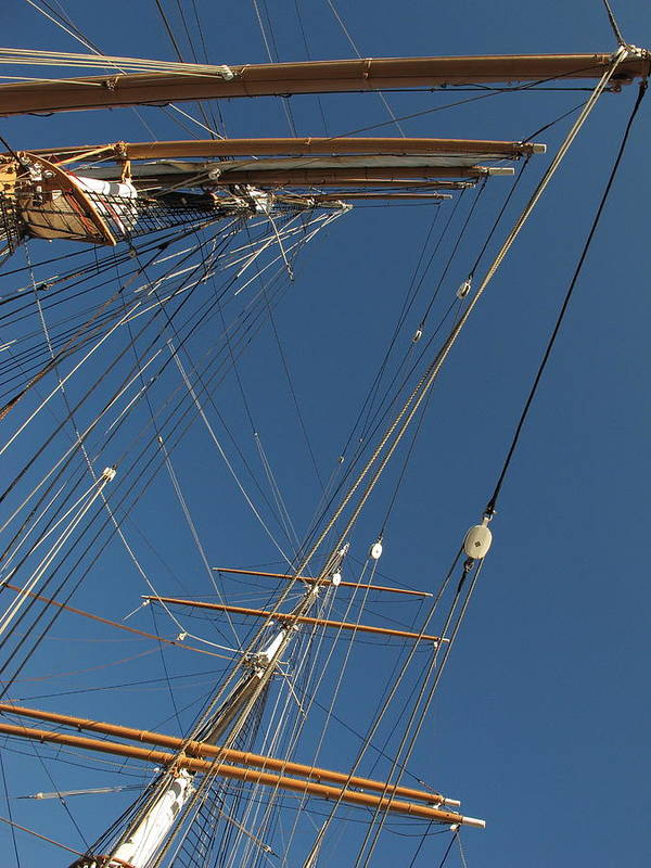 Tall Ship Art Print featuring the photograph Tall Ship Rigging 1 by Winston Wetteland