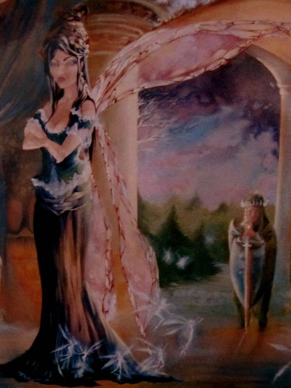 Tamlin Fairy Queen Poem Art Print featuring the painting Tamlin by Jackie Rock