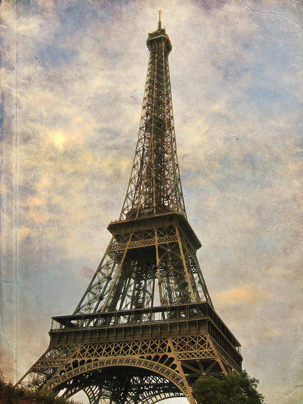 The Eiffel Tower Art Print featuring the photograph The Eiffel Tower by Laurie Search