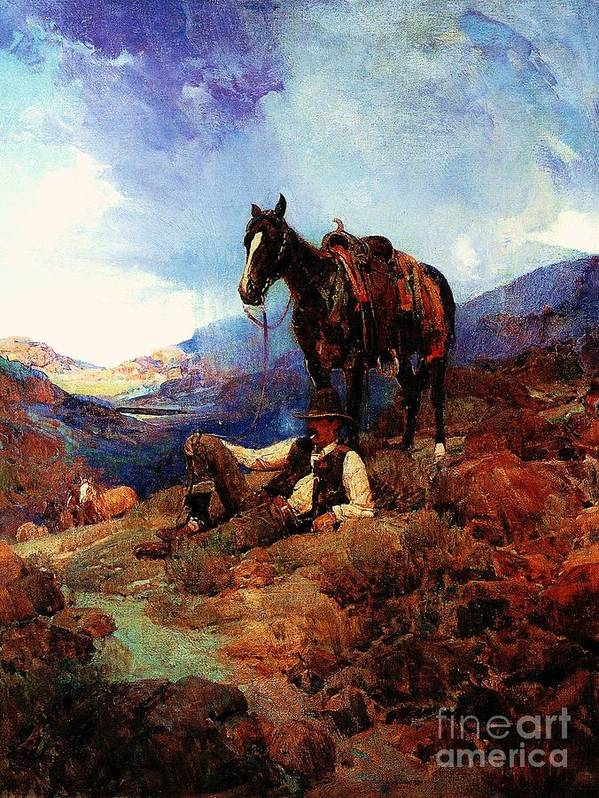 Pd Art Print featuring the painting The Morning Shower by Pg Reproductions