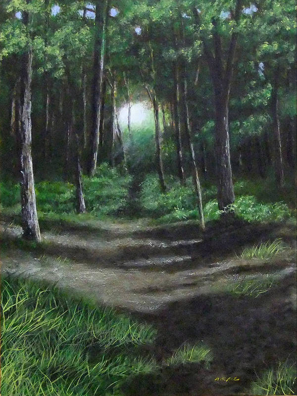 Landscape Art Print featuring the painting The Path by Leo McRee