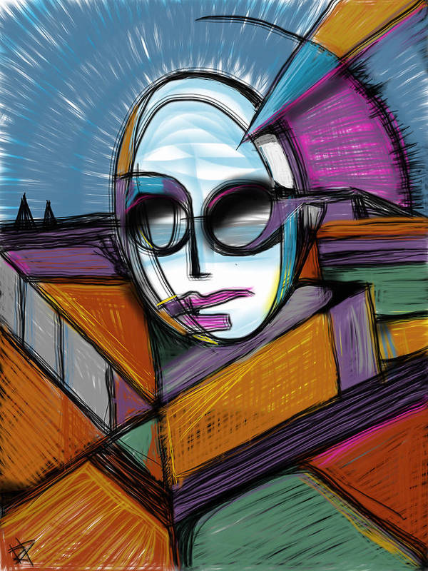 Lady Gaga Art Print featuring the mixed media The Queen by Russell Pierce