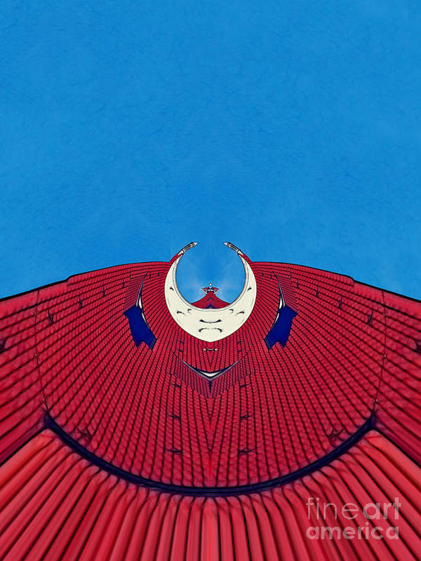 Archifou Art Print featuring the digital art the red dress - Archifou 71 by Aimelle
