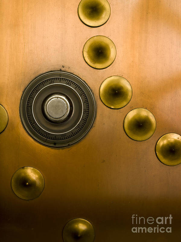 Architectural Art Print featuring the photograph Tumbler On A Vault Door by Adam Crowley