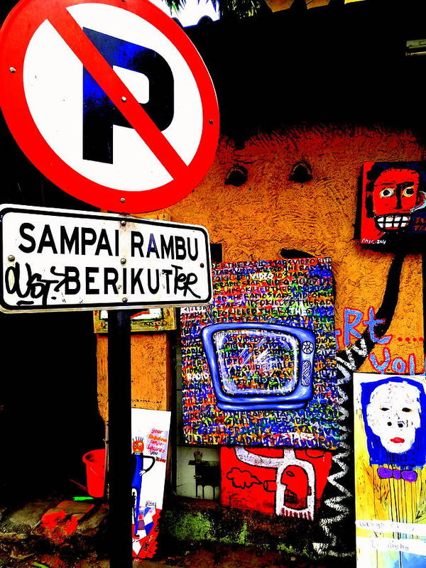 Bali Art Print featuring the photograph Ubud Art Street by Funkpix Photo Hunter