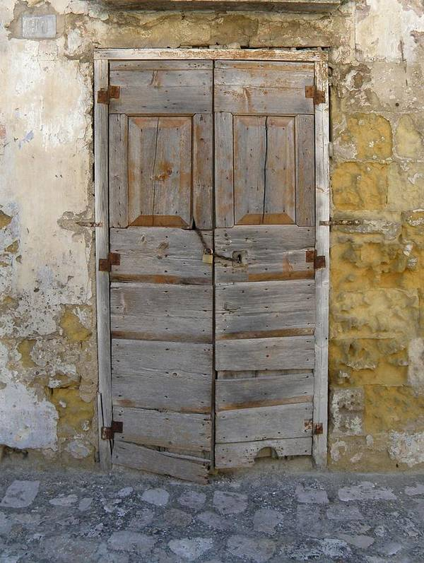 Doors Art Print featuring the photograph Vieste Door by Maria Flumiani