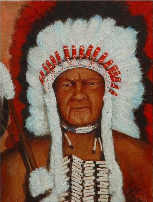 Portriat Art Print featuring the painting The Chief by Merle Blair