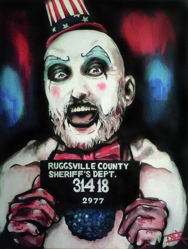Captain Spaulding Art Print featuring the painting Captain Spaulding by Danielle LegacyArts