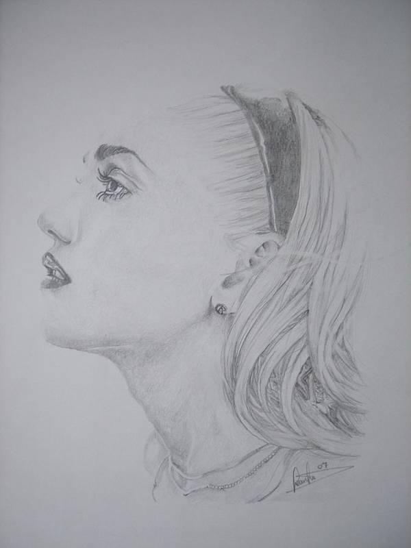 Celeb Portraits Art Print featuring the drawing Gwen Stefani by Sean Leonard