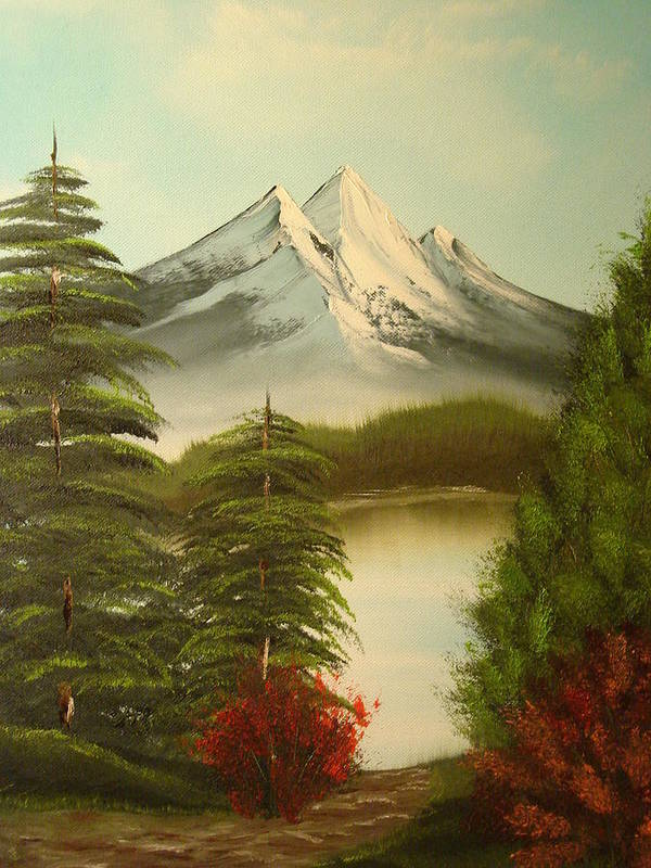 Oil Painting Art Print featuring the painting Landscape by Modern Palette Art