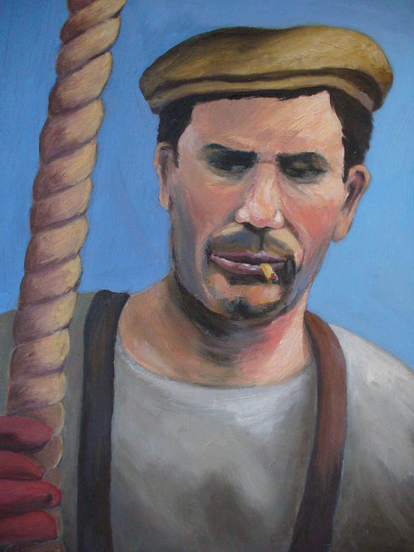 Figure Art Print featuring the painting Long Shoreman by Joe Lanni