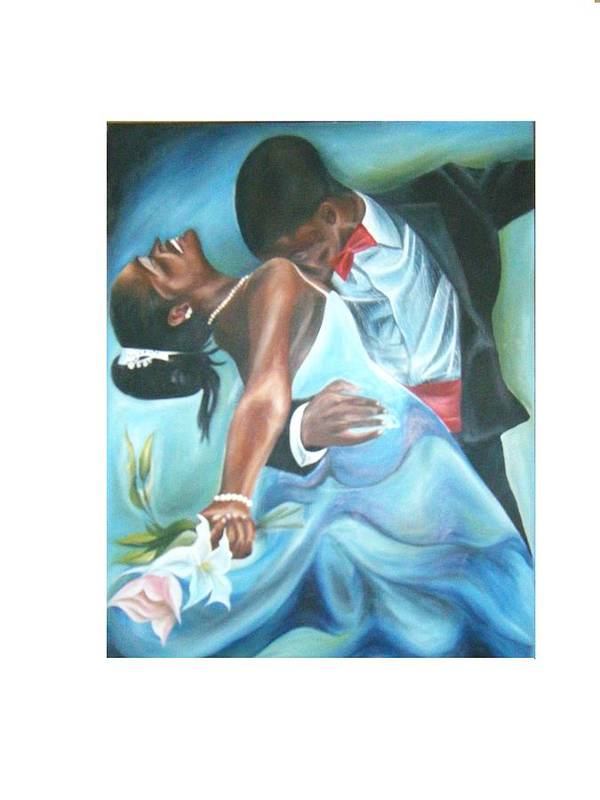 Beautiful Art Print featuring the painting Love Dance by Olaoluwa Smith