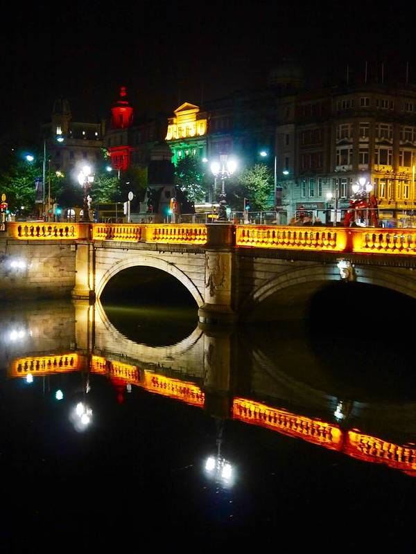 Candles Art Print featuring the photograph O'connell Bridge by James Fitzpatrick