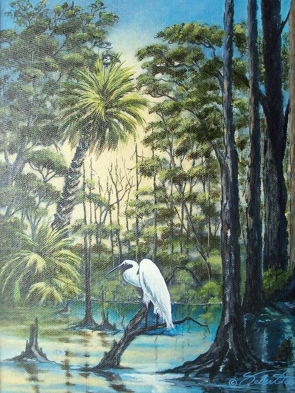 Landscape Art Print featuring the painting Only The Lonely by Dennis Vebert