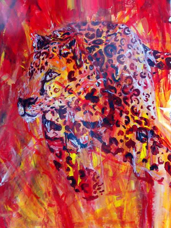 Panther Art Print featuring the painting Panther by Anne Weirich