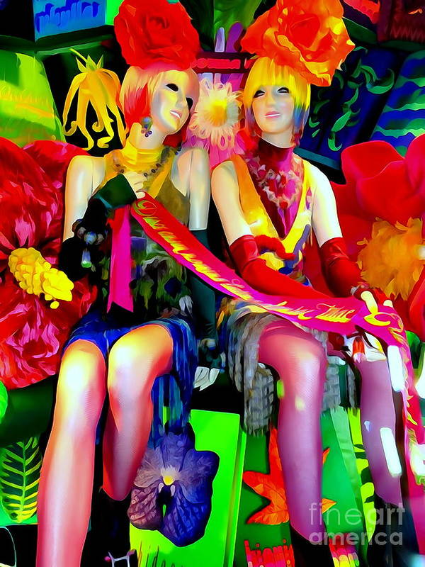 Mannequins Art Print featuring the digital art Sassy Sisters by Ed Weidman