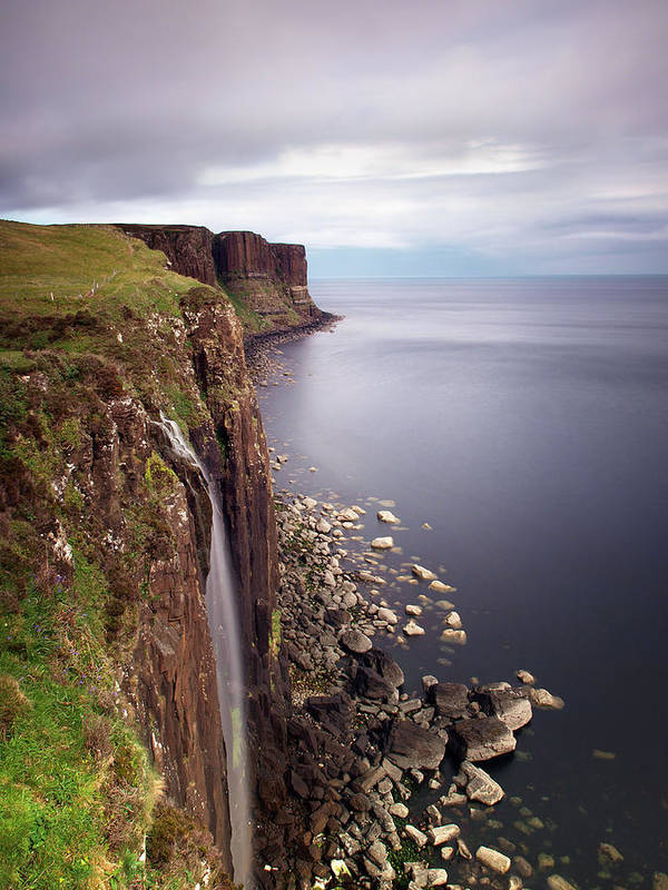Scotland Art Print featuring the photograph Scotland Kilt Rock by Nina Papiorek
