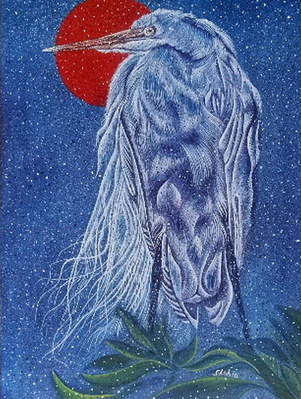 Bir Art Print featuring the painting Snow Bird by Shahid Muqaddim