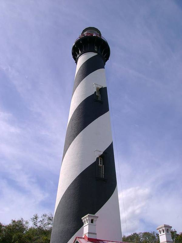 Lighthouse Art Print featuring the photograph St. Augustine Lighthouse by Larry Waller