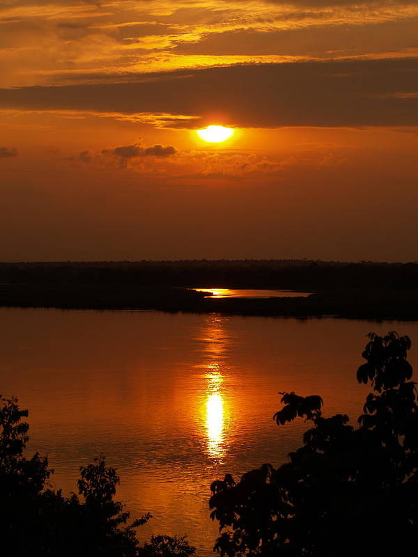 Africa Art Print featuring the photograph Sun Setting On The Nile by William Linares MistuhWill