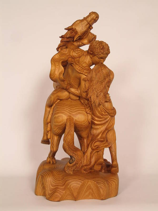 Sculpture Art Print featuring the sculpture The Lovers by Thu Nguyen