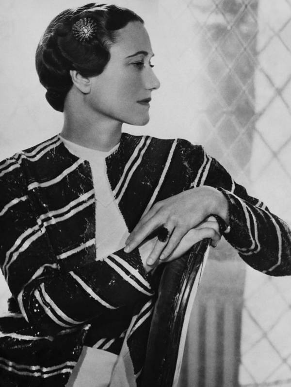 1930s Print featuring the photograph Duchess Of Windsor Wallis Simpson by Everett