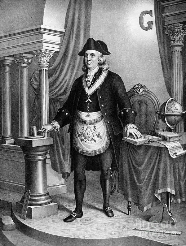 1896 Art Print featuring the photograph Benjamin Franklin (1706-1790) by Granger