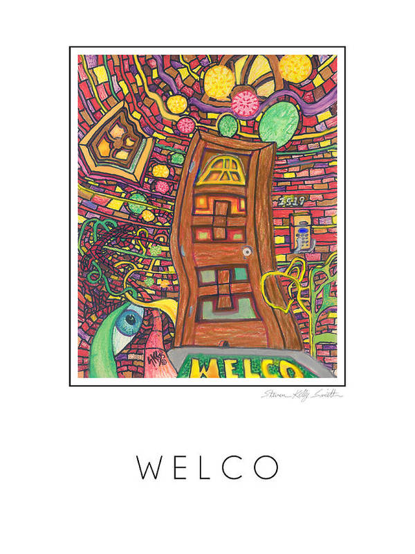Art Print featuring the digital art Welco by Steven Kelly Smith
