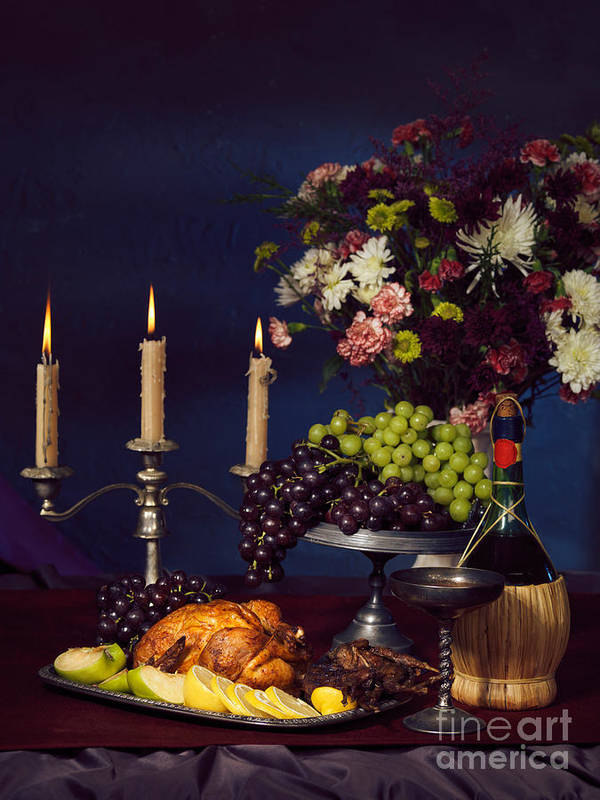 Feast Art Print featuring the photograph Artistic Food Still Life by Oleksiy Maksymenko