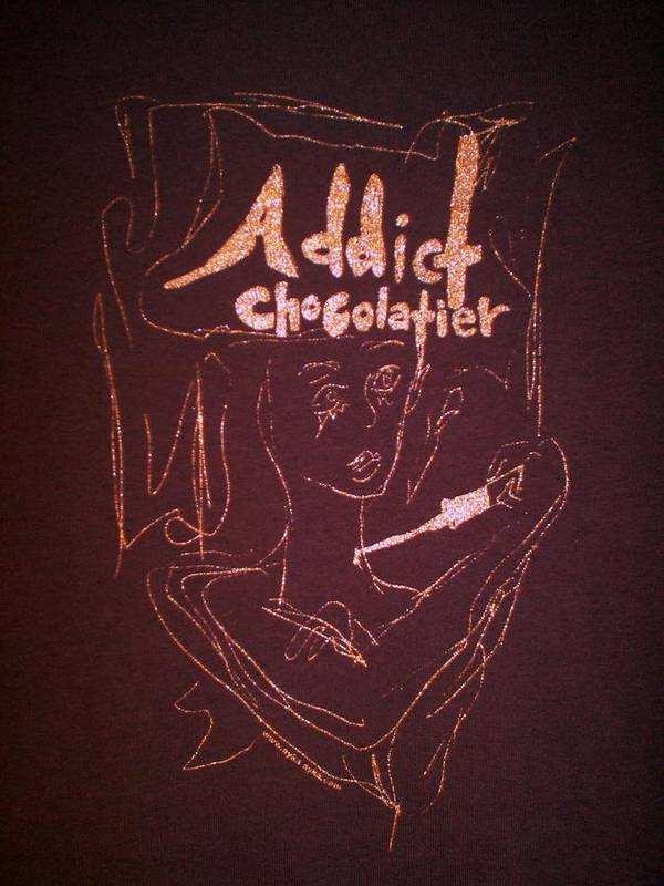 Dark Chocolate Art Print featuring the drawing Addict Chocolatier by Ayka Yasis
