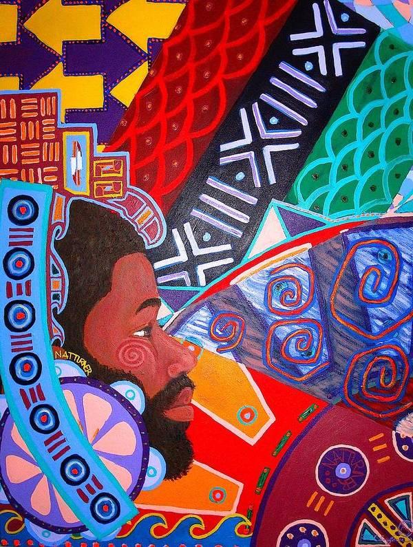 Malik Seneferu Art Print featuring the painting Aesthetic Ascension1 by Malik Seneferu