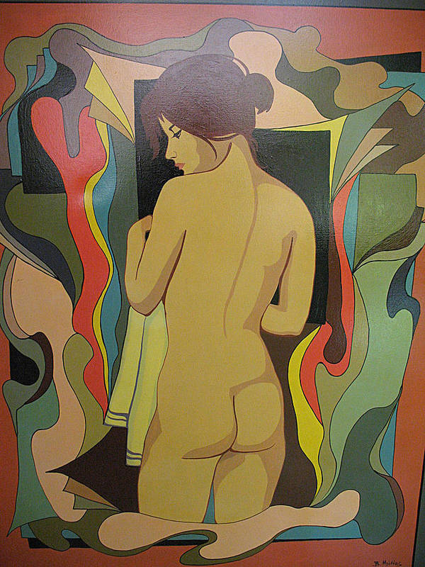 Abstract Art Print featuring the painting After Bath by Vasilis Bottas